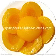 2015 Выпечка хлеба Используемые консервированные желтые персики половинки