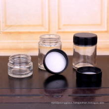 hot sell 120ml 4oz child resistant glass jar food grade storage  with child-proof lid