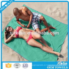 Toalla de playa de microfibra teñida llanura de doble tamaño para parejas