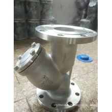 Y tipo filtro de aço inoxidável da extremidade da flange do filtro