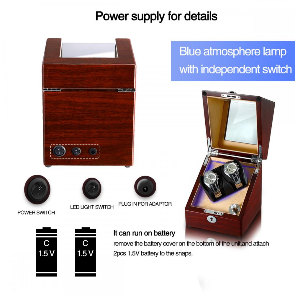 Ww 8116 Walnut Single Watch Winder Details