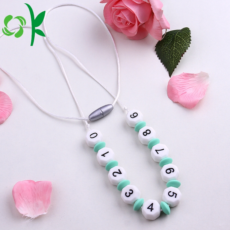 Fashion Silicone Beads With Number