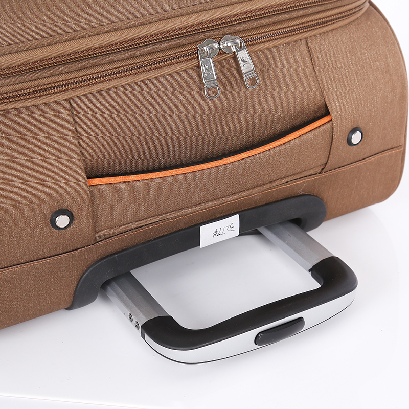 Nylon brown light weight business luggage sets4