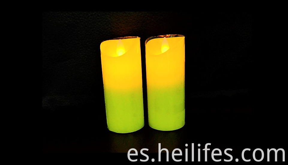 Customized Festival Gifts Yellow Candle