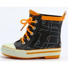 Детские короткие шнурки каучук дождя сапоги