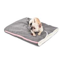 Ramie Cotton Wool Three Ways Use Plush Sleeping Bag Warming Dog Sack Soft Pet Mat