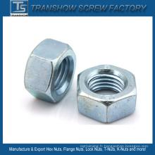 Écrou hexagonal en acier au carbone DIN ANSI JIS Bsw