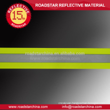 Fluorescent yellow high visibility reflective fire resistant fabric