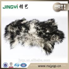 Fluffy Mongolian Sheepskin Fur Deep Green