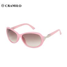 Fashion pink women sunglasses over glasses