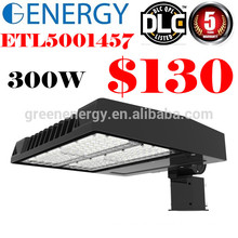 ETL DLC CE LED 125lm/w 5 years warranty Shoe Box light 300w parking lot street lighting sold in Canada
