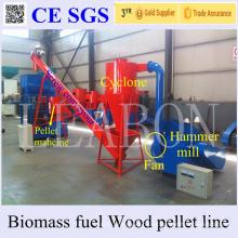 Proveedor de oro Leabon 450-Mx 1 t por hora Planta automática de pellets de madera de la trituradora