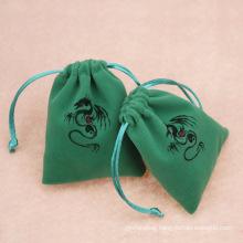 Custom printed logo small drawstring bag jewelry pouch