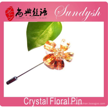 Broche nupcial de la flor del ramo de la boda cristalina del Rhinestone del estilo del vintage