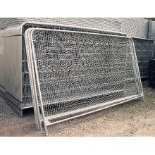 Clôture de cadre de haute qualité / panneau de grillage soudé avec clôture de poteau rond