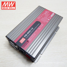 Original MEANWELL battery charger 600W for 12V lead-acid battery bank and li-ion battery PB-600-12