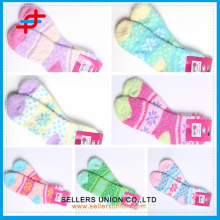 New arrival custom logo multi coloured fashion girls terry socks/China suppliers of terry towelling socks