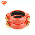 grooved pipe fitting and coupling with bolt and rubber