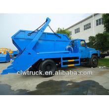 Dongfeng 6 m3 camión de basura con contenedor en el suelo