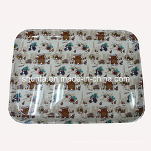 "100% Melamine Dinnerware -""France Bear""Series Tray/100% Melamine Tableware (FB9012)"