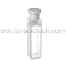 T-BOTA ES Cristal de cuarzo 10 mm de longitud de recorrido Económico Q-14 Celda estándar con tapón de telflon