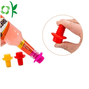 Personalized Silicone Screw Cap Bottle Stopper untuk Bar