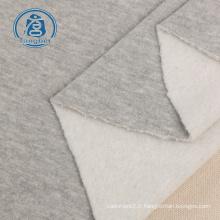 Tissu en molleton uni de type éponge tricoté pour chandails