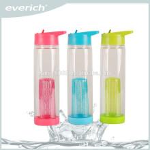 Hochwertige Kunststoff Frucht Infuser Wasserflaschen Mit Stroh Cap
