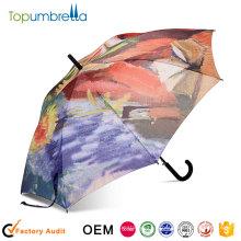 2018 nouveaux produits chauds Numérique Transfert thermique impression coloré Auto ouvert parapluie commercial