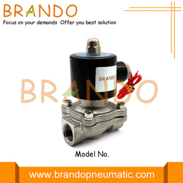 2S160-15 SUW-15 1/2 '' Katup Solenoid Air Stainless Steel