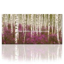 Impresión de la lona del bosque Arte / imagen del árbol en la impresión de la pintura de la lona de la lona / del paisaje