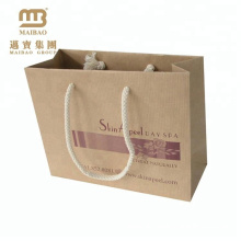 alibaba golden supplier brown kraft paper bag with cotton rope handle