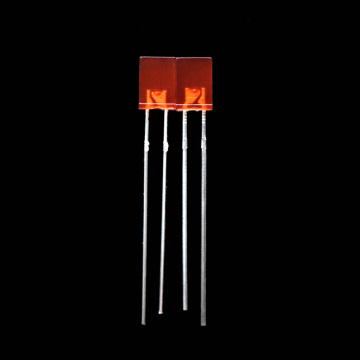 Lámparas LED de orificio pasante de rectángulo rojo de 2 × 5 × 7 mm