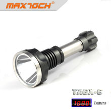 Linterna de LED de alta potencia Maxtoch TA6X-6 inoxidable