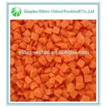 Des carottes en dés congelées de bonne qualité