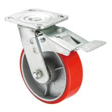 Série de roulettes robustes - 4 po W / Dual Brake