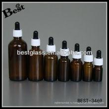 эфирное масло капельницы бутылки с белой пластиковой крышкой,черная резина,стекло капельницы;коричневый эфирное масло бутылки капельницы
