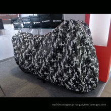 Camouflage Printing Outdoor Motorcycle Cover Fleece Inside Protection