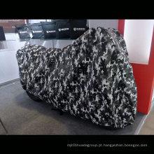 Impressão de camuflagem capa de motocicleta externa proteção interna de velo
