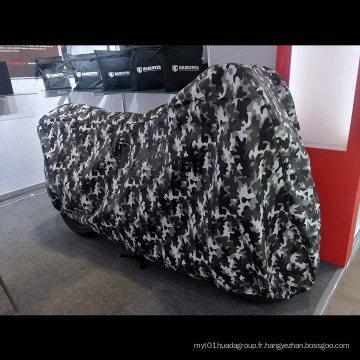 Protection intérieure en molleton de couverture de moto extérieure d'impression de camouflage
