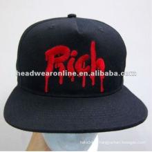 Пользовательские крышки snapback / snapback hat / плоский колпачок with3D EMB logo