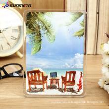 Hot Selling Directly Factory Haute Qualité Vente en gros Modulable Modulable Revêtue Impression vierge Cadre photo en verre à vendre