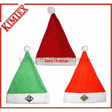 Fleece Bordado Promoção Decoração Presente Natal Santa Chapéu