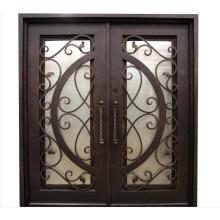 Security Exterior Wrought Iron Steel Doors