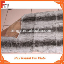 ( Dyed Chinchilla Design with three black strips) Rex Rabbit Fur Plate