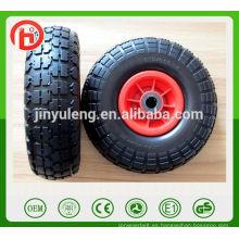 10 pulgadas 4.10 / 3.50-4 estirar la rueda neumática de goma del aire para el echador del camión de mano del coche del juguete