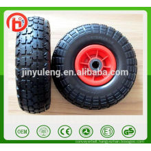 10 inch 4.10/3.50-4 stretch Pneumatic air rubber wheel for toy car hand truck castor
