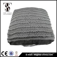 Cojines de piso de interior de algodón de punto almohada adulto almohada almohada