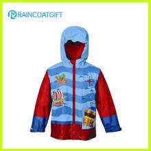 Kids Cartoon PU Rainwear with Fleece Lining