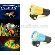 Nizza Tauchen Produkte! Weitwinkelwinkel 140 Grad 2400lm mit Rot / UV LED Fotografie Tauchen Taschenlampen